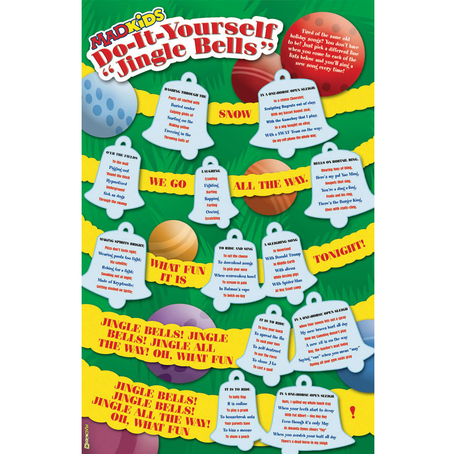 Mad magazine do it yourself jingle bells briandurniak my goal with this was to make the design reek of christmas while trying to guide the reader through the song i illustrated the entire background using solutioingenieria Image collections