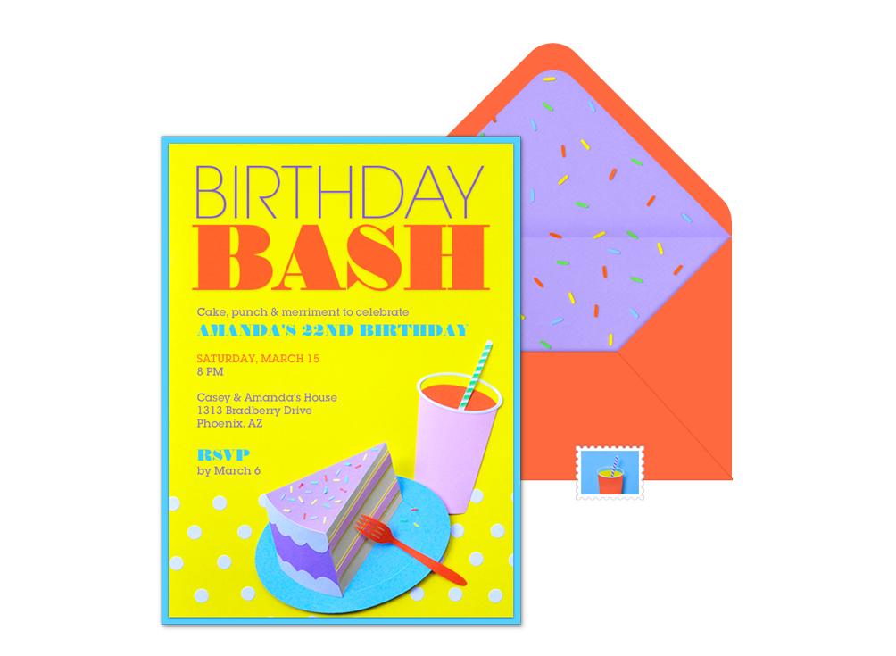 Evite birthday bash invitation chloefleury stopboris Choice Image