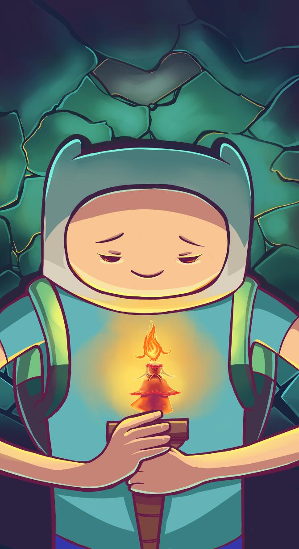 Adventure Time Finn And Flame Princess L Figueroa