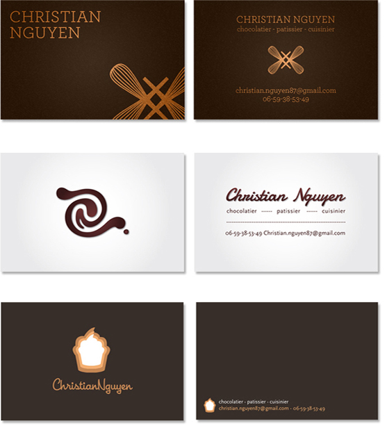Logos adle h business cards for the pastry chef christian nguyen colourmoves
